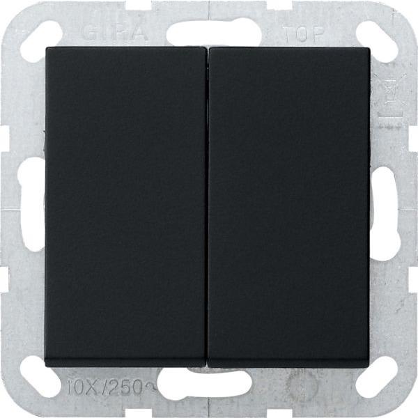 gira 0125005 system 55 serientastschalter mit wippen. Black Bedroom Furniture Sets. Home Design Ideas