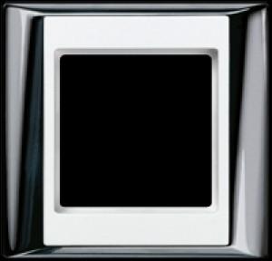 Jung Abdeckrahmen AP 581 GCRWW 1-fach glanzchrom-alpinweiß