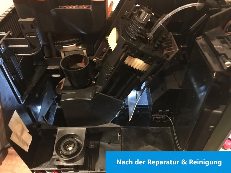 Kaffeemaschine sauber nach der Reinigung