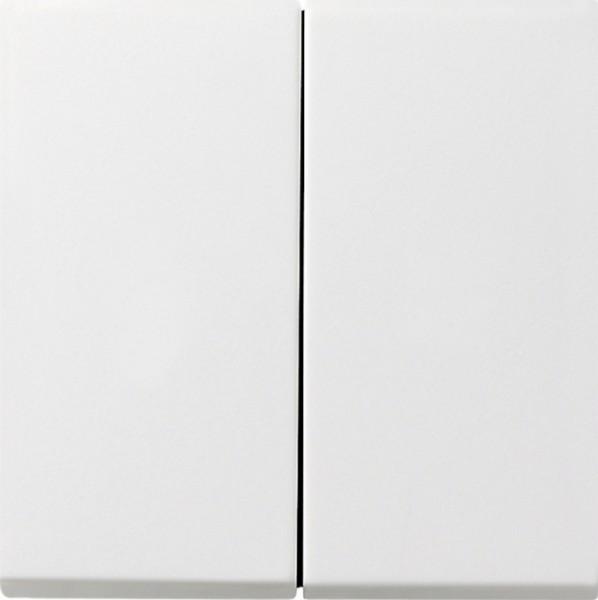 GIRA 2315112 Serienaufsatz zum Schalten und Dimmen Reinweiß glänzend