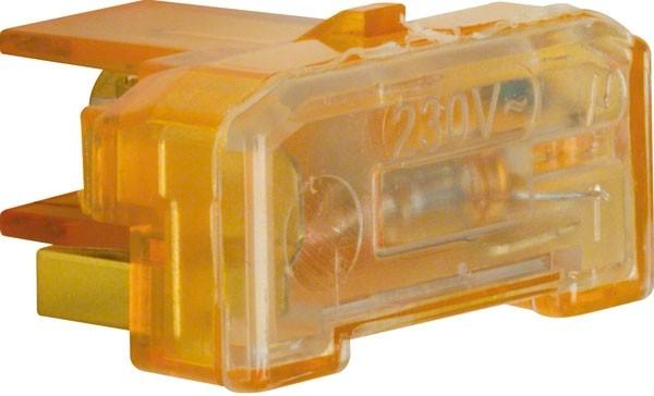 BERKER 167504 Glimmaggregat mit N-Klemme Orange 0,4mA