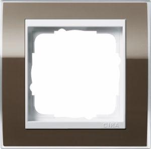 GIRA 0211763 Abdeckrahmen Event Klar Braun 1-fach