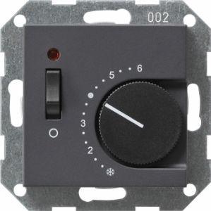 Gira 039228 Raumtemperatur Regler komplett mit Öffner und Kontrolllampe. Anthrazit