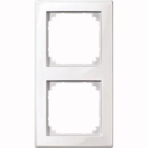 MERTEN 478219 M-SMART-Rahmen, 2fach Polarweiss, glänzend