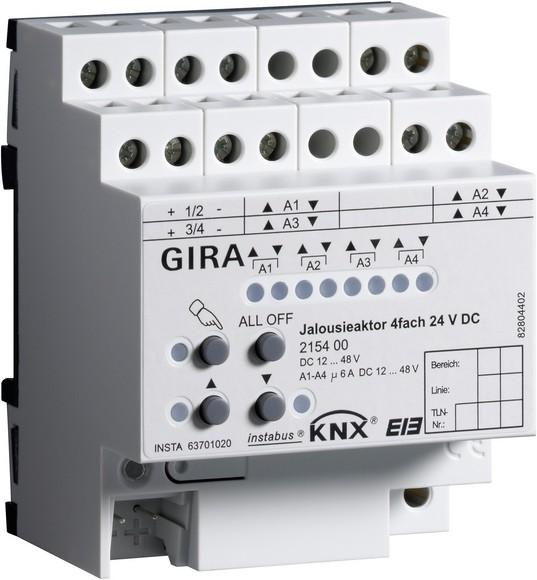 Gira 215400 Jalousieaktor 4fach 24V DC KNX/EIB REG
