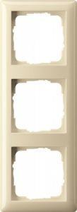 Gira 021301 Rahmen Cremeweiß Glänzend 3 Fach