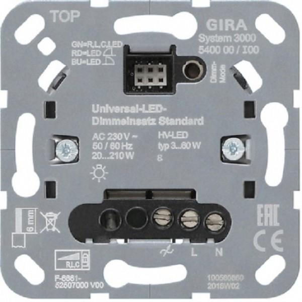 Gira 540000 Einsatz System 3000 Universal-LED-Dimmeinsatz Standard