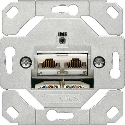 Gira 245200 Netzwerkdose 2-fach Cat.6A IEEE 802.3