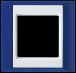 jung abdeckrahmen 1 fach ap 581 bl ww blau alpinwei. Black Bedroom Furniture Sets. Home Design Ideas