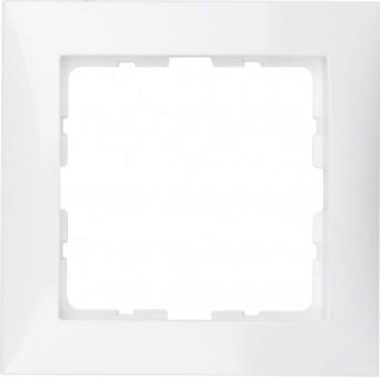 BERKER 10118989 Rahmen S.1, Polarweiß glänzend 1-fach