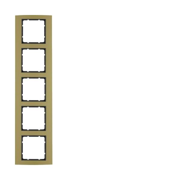 Berker 10153016 B.3 Rahmen 5-fach Alu gold/anthrazit