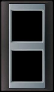 Jung Abdeckrahmen 2-fach 93x60 mmAP 582 ANT AL anthrazit-aluminium