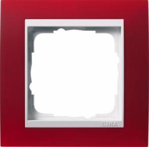 GIRA 0211398 Abdeckrahmen Event Opak Rot 1-fach