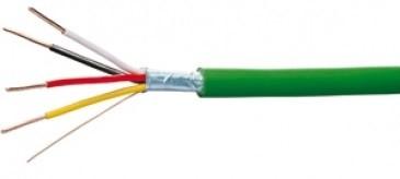 EIB-Busleitung halogenfrei HCH 2X2X0,8 mm², grün, (100m Ring)