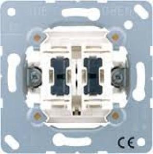 JUNG 505 KOU 5 Wipp-Kontrollschalter Serie mit 2 Glimmlampen