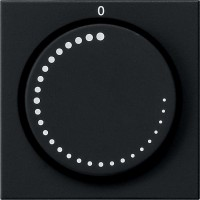 Gira 0652005 System 55 Abdeckung für Drehzahlsteller Schwarz matt