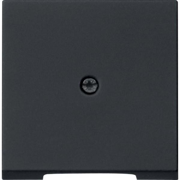 Gira 0274005 System 55 Abdeckung für Schnurableitung und Fernmeldeverbinderdose Schwarz matt