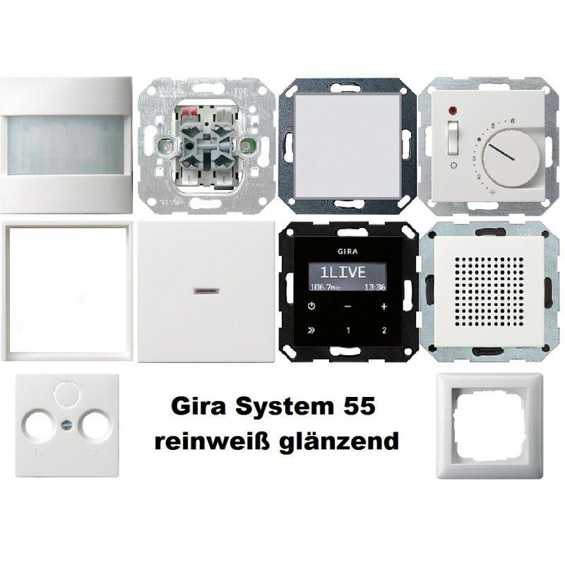 1 familienhaus paket reinwei gl nzend system 55 gira. Black Bedroom Furniture Sets. Home Design Ideas