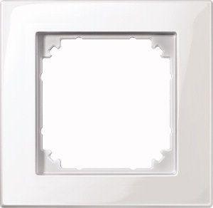MERTEN 515119 M-PLAN Rahmen, Polarweiß glänzend 1-fach