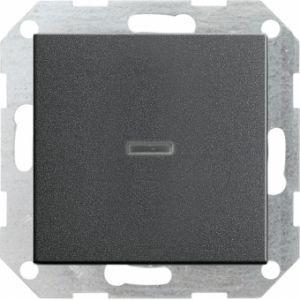 Gira 013628 Tastkontrollschalter komplet t mit Wippe fuer Universal Aus Wechselsch. Anthrazit