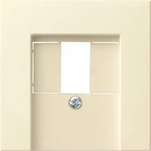 Gira 027601 Abdeckung für TAE und Lautsprecherdose Cremeweiß glänzend