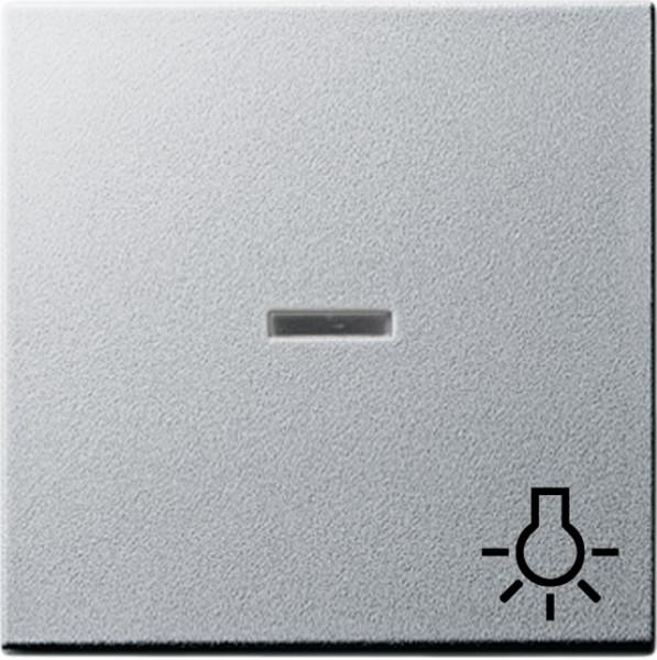 Gira 067426 Wippe mit Symbol Licht und K ontrollfenster fuer Wippschalter, taster Alu