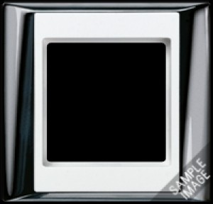 Jung Abdeckrahmen 2-fach AP 582 GCR WW glanzchrom-alpinweiß