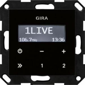 GIRA 228405 Unterputz-Radio RDS Schwarzglasoptik