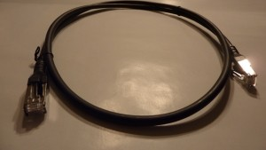 Patchkabel Cat.6A AWG 26 0.5 m schwarz
