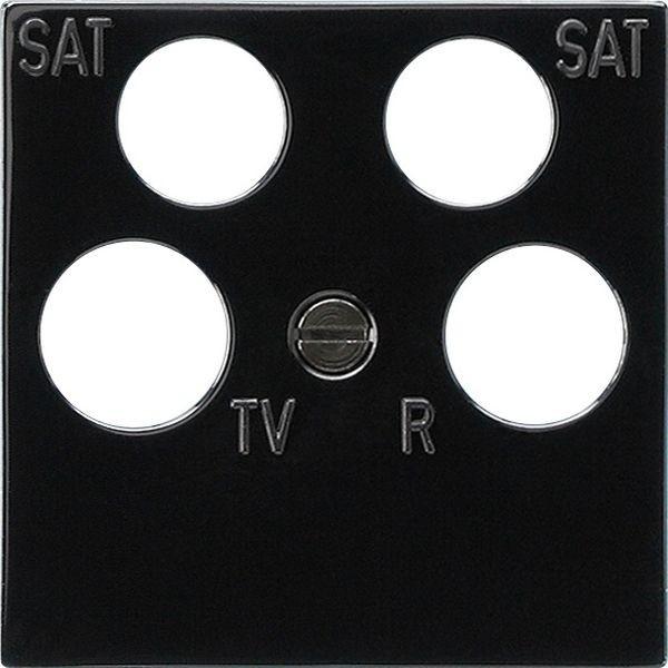 Gira 025910 Zubehör Zentralplatte 4-fach 50x50mm für Koaxial-Antennendose mit 2 zusätzlichen SAT-Ans