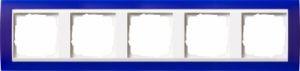 GIRA 0215399 Abdeckrahmen Event Opak Blau 5-fach
