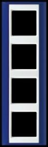 Jung Rahmen AP 584 BL WW 4-fach A Plus blau alpinweiß