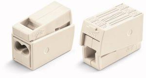 WAGO 224-112 2-Leiter Leuchtenklemme 2 x 1,0 - 2,5 qmm, Weiss